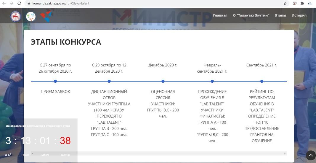 конкурс Таланты Якутии этапы конкурса
