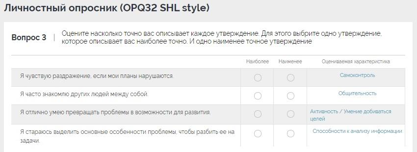 личностный опросник shl opq32 коммуникативные навыки